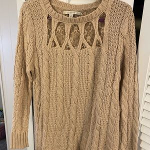 LC Lauren Conrad cut out lace sweater
